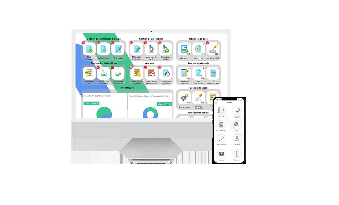 AQ Manager LIMS Printscreen application